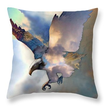 Soaring Throw Pillow by Ursula Freer