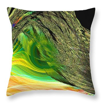Soaring Wing Throw Pillow by Thomas Bryant