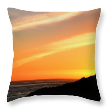 Throw Pillow featuring the photograph Socal Coastal Sunset by Clayton Bruster