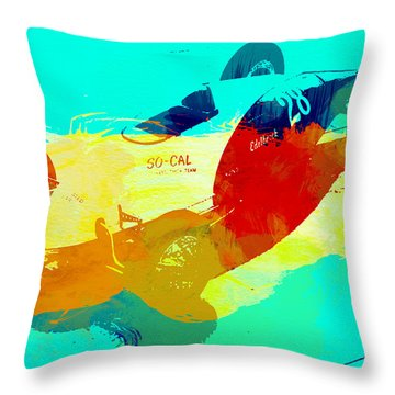 Socal Throw Pillow by Naxart Studio