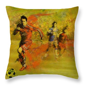 Soccer  Throw Pillow by Corporate Art Task Force