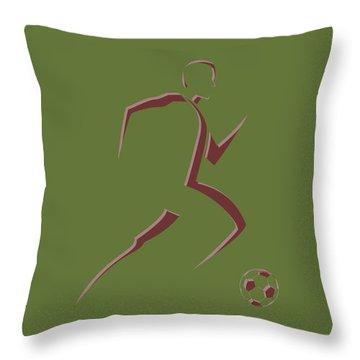 Soccer Player10 Throw Pillow