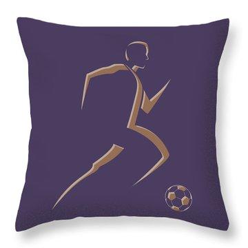 Soccer Player3 Throw Pillow