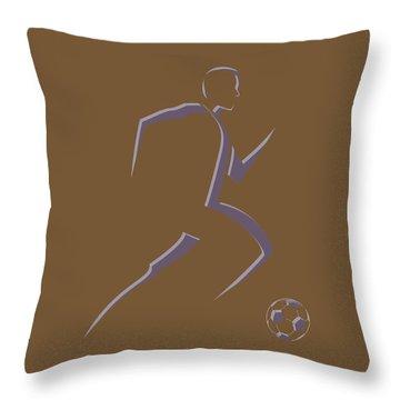 Soccer Player5 Throw Pillow