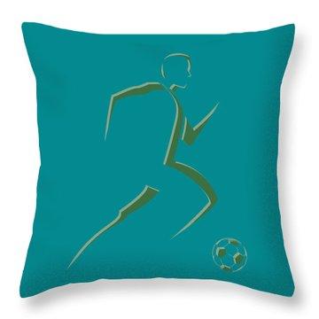 Soccer Player7 Throw Pillow