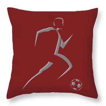 Soccer Player9 Throw Pillow