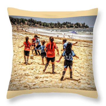 Soccer Tournament Throw Pillow