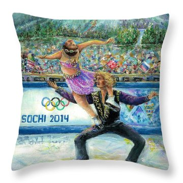 Sochi 2014 - Ice Dancing Throw Pillow
