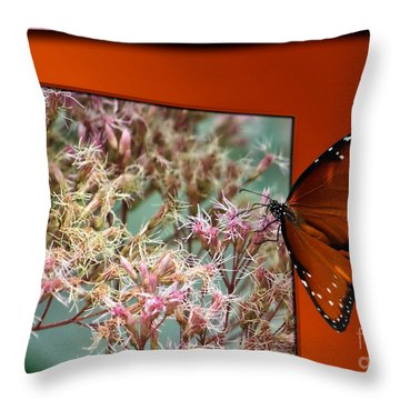 Social Butterfly 03 Throw Pillow by Thomas Woolworth