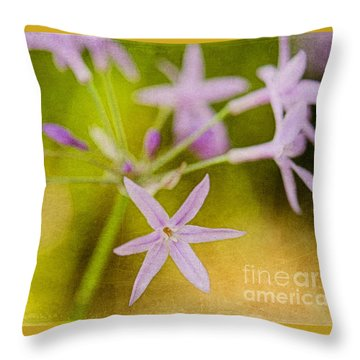 Society Garlic  Throw Pillow by MaryJane Armstrong