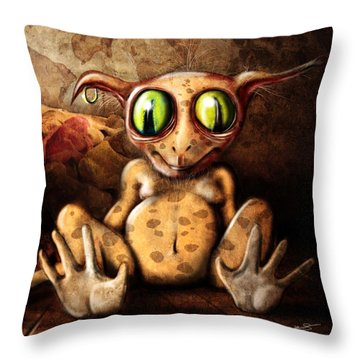 Sock Monster Throw Pillow by Jeremy Martinson