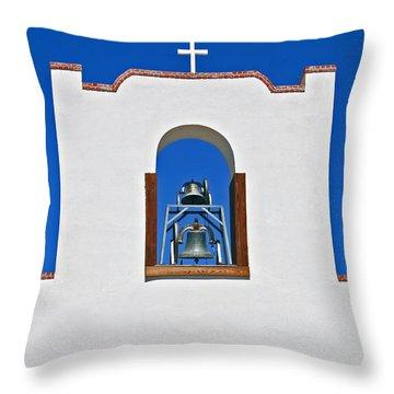 Socorro Mission La Purisma Throw Pillow by Kathleen Scanlan