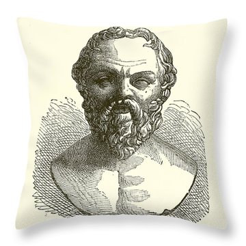 Socrates Throw Pillow