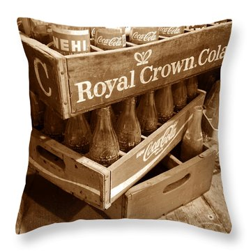Soda In The Corner Throw Pillow by David Lee Thompson