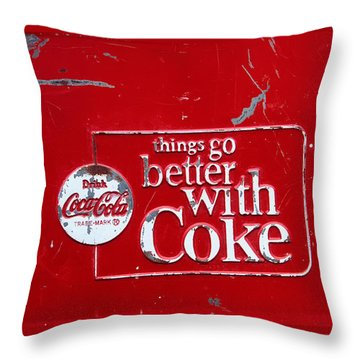 Soda Of Choice Throw Pillow by Toni Hopper