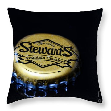 Soda - Stewarts Root Beer Throw Pillow by Paul Ward