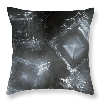 Sodium Hydroxide Crystals Throw Pillow by Charles D Winters