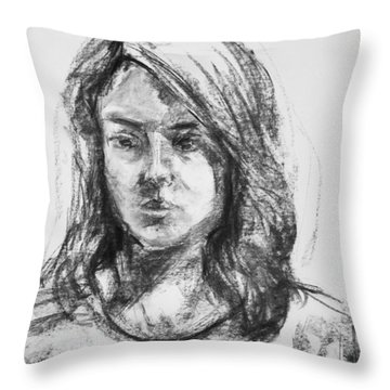 Sofia Throw Pillow by Barbara Pommerenke