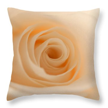 Soft And Creamy Rose Throw Pillow