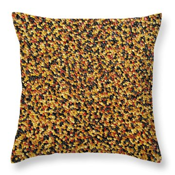 Soft Black With Brown Throw Pillow by Dean  Triolo