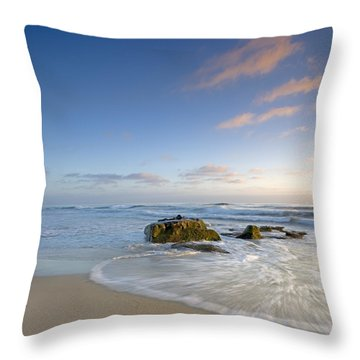 Soft Blue Skies Throw Pillow