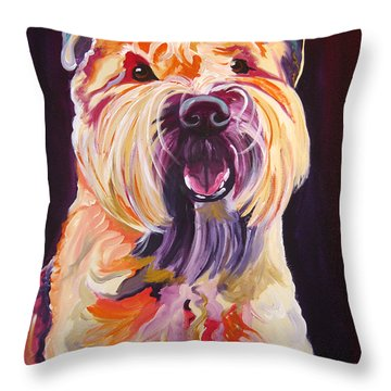 Soft Coated Wheaten Terrier - Bailey Throw Pillow by Alicia VanNoy Call