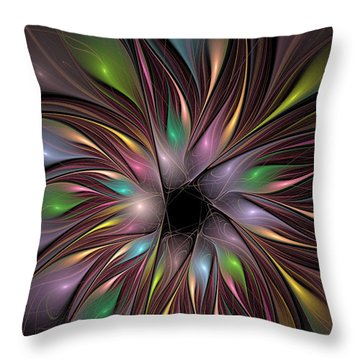 Soft Colors Of The Rainbow Throw Pillow by Deborah Benoit