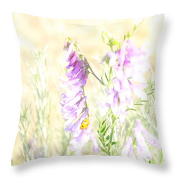 Soft Desert Flower Throw Pillow