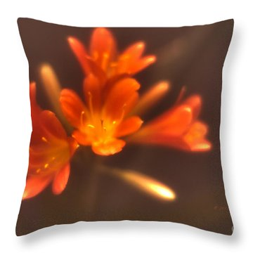 Soft Focus Kaffir Lily Throw Pillow