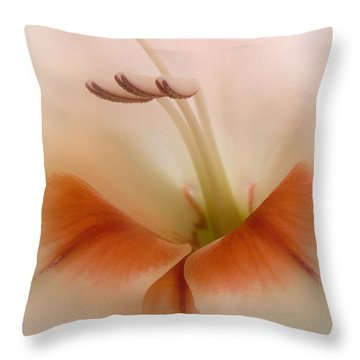 Soft Gladiolus Throw Pillow