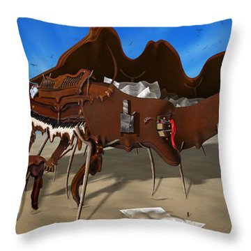 Soft Grand Piano With Camera - Panoramic Throw Pillow