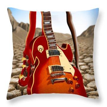 Soft Guitar Throw Pillow by Mike McGlothlen