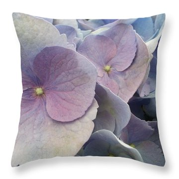 Soft Hydrangea  Throw Pillow