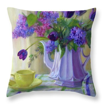 Soft Light Throw Pillow by Bonnie Mason