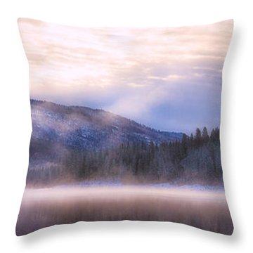 Soft Light Of Winter Throw Pillow