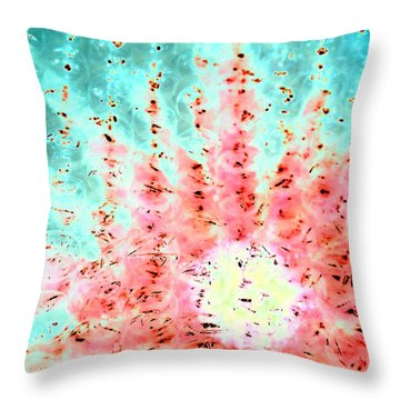 Soft Morning Rain Throw Pillow by Jacqueline McReynolds