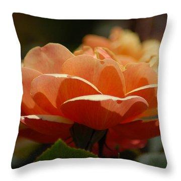 Soft Orange Flower Throw Pillow by Matt Harang