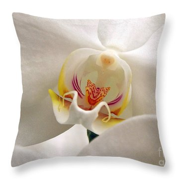 Soft Orchid Throw Pillow by Kathi Mirto