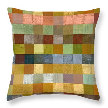 Soft Palette Rustic Wood Series Collage Ll Throw Pillow