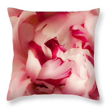 Soft Peony Throw Pillow