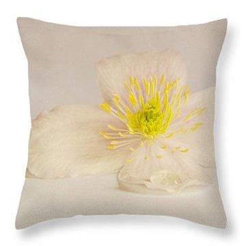 Soft Pink Flower Throw Pillow by Svetlana Sewell