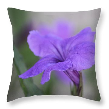 Throw Pillow featuring the photograph Soft Purple Floral by Penny Meyers