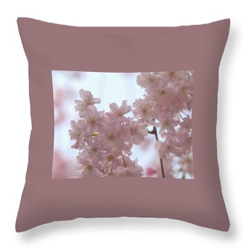 Soft... Throw Pillow by Rachel Mirror