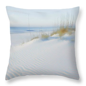 Soft Sandy Beach Throw Pillow