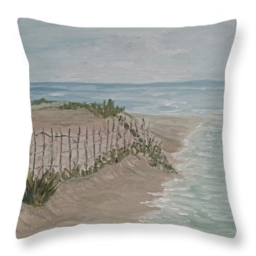Soft Sea Throw Pillow by Barbara McDevitt