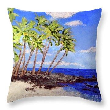 Soft Seabreeze Throw Pillow by Susan Plenzick