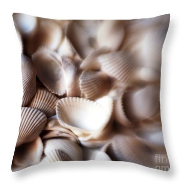 Soft Shells Throw Pillow