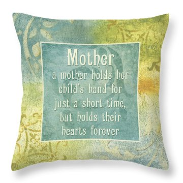 Soft Spa Mother's Day 1 Throw Pillow by Debbie DeWitt