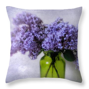 Soft Spoken Throw Pillow by Jessica Jenney