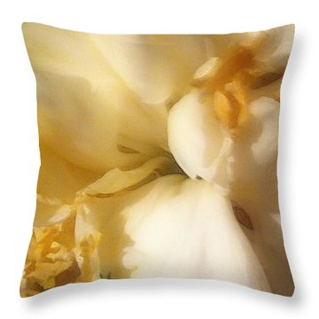 Throw Pillow featuring the digital art Soft Spoken Throw by Gayle Price Thomas